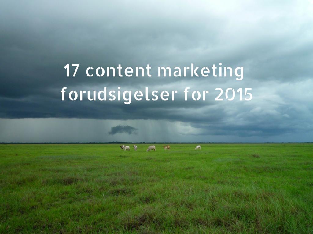 17 content marketing forudsigelser for 2015